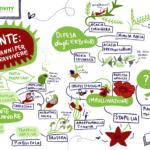 Graphic recording con piante che hanno evoluto strategie per sopravvivere